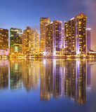 City of Miami Florida, night skyline Royalty Free Stock Photos