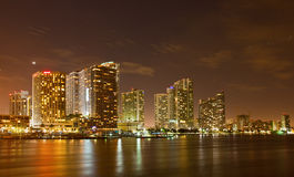 City of Miami Florida, night skyline. Stock Images