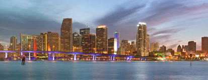 City of Miami Florida panorama Stock Photography