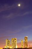 CIty of Miami Florida, summer sunset panorama Stock Image
