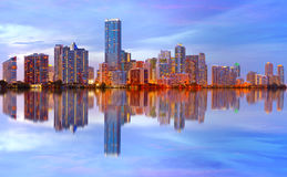 City of Miami Florida sunset Royalty Free Stock Photos