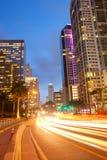 City of Miami Florida, traffic moving through downtown Royalty Free Stock Photo