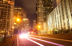 City of Miami Florida, traffic moving through downtown Stock Photography