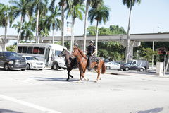 City of Miami police officers on horses Stock Photography