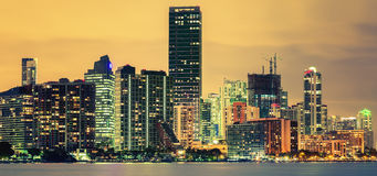CIty of Miami, summer sunset Royalty Free Stock Image
