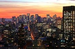 city midtown new skyline york Στοκ φωτογραφία με δικαίωμα ελεύθερης χρήσης