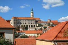 City of Mikulov in Moravia in Czech republic stock photo
