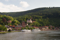 City of Miltenberg at the Main river Stock Photography
