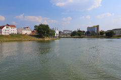 The city of Minsk, Belarus. General view of the Belarusian capital of Minsk this summer Stock Photo