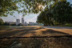 The city of Minsk, Belarus. General view of the Belarusian capital of Minsk this summer Stock Photography