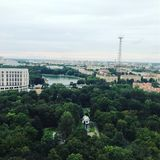 The city of Minsk is from a birds eye view. Minsk is the capital and largest city of Belarus, situated on the Svislach and the Nyamiha Rivers. As the national royalty free stock image