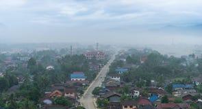 City in mist Stock Photos