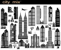 City mix Stock Images