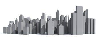 City model. City bird eye view model 3d rendering Stock Image