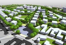 City model. 3d illustration of City model Stock Image