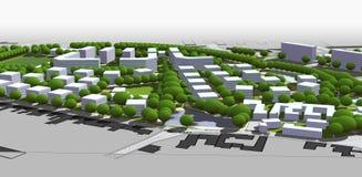 City model. 3d illustration of City model Stock Images