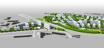 City model. 3d illustration of City model Royalty Free Stock Image