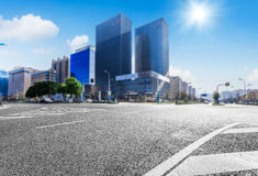 City of modern architecture and the background of highway landscape Stock Photo