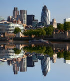 City of modern London, UK. Modern London with city cruise, England Stock Images