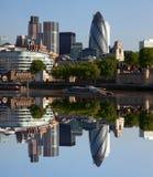City of modern London, UK stock images