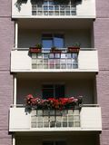 City: modernist apartment balconies Royalty Free Stock Photos