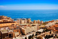 City of Monaco panorama Stock Image