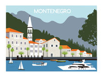 City in Montenegro. Stock Images