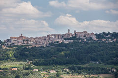 City of Montepulciano in Tuscany, Italy. View from outside the City of Montepulciano in Tuscany, Italy Stock Photo