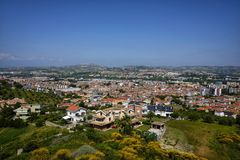 The city of montesilvano from above. Day Royalty Free Stock Photo