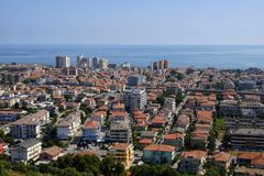 The city of montesilvano from above. Day Stock Photography