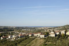 The city of Montesilvano. Montesilvano city beautiful view day Royalty Free Stock Photo