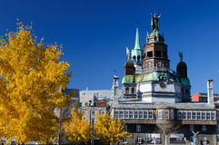 City of Montreal. Autumn old port of Montreal Royalty Free Stock Photo