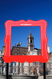 City of Montreal. Frame for portrait old Montreal Royalty Free Stock Images