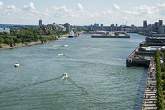 City of Montreal Harbor view Royalty Free Stock Photos