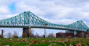 City of Montreal. Jacques cartier bridge city of Montreal Royalty Free Stock Photography