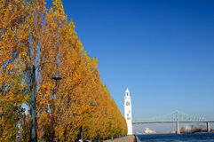 City of Montreal. Lighthouse, old port of Montreal stock photos