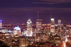Night view of a modern city from top stock image