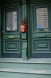City of Montreal. Particular door houses montreal city stock images