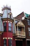 City of Montreal. Particular roof houses montreal city Royalty Free Stock Photo