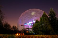 City of Montreal. Particularly biosphere of modern architecture Royalty Free Stock Image