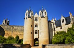 Montreuil-Bellay, French tourist destination, detail of the medieval castle Royalty Free Stock Photography