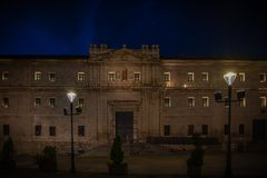 City with monuments of the center of Spain. Valladolid historical and cultural city in Spain stock image