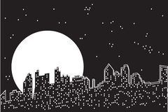 City moon night. Stock Photo