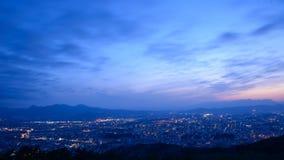 City of Morioka in the twilight Stock Image