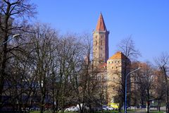 City in the morning. City Legnica Poland in the morning stock photos