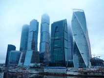 The City in Moscow Stock Photo