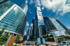 Capital city - multifunctional complex , which is part of the Moscow city, consisting of two towers -Moscow and St. Petersburg. City the Moscow . Capital city stock photography