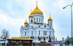 City the Moscow .Cathedral of Christ the Saviour , the Main attraction of the city.Russia. City the Moscow .Cathedral of Christ the Saviour, the Main attraction royalty free stock photography
