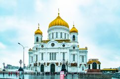 City the Moscow .Cathedral of Christ the Saviour , the Main attraction of the city. City the Moscow .Cathedral of Christ the Saviour, the Main attraction of the stock photography