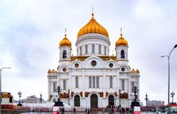 City the Moscow .Cathedral of Christ the Saviour , the Main attraction of the city. City the Moscow .Cathedral of Christ the Saviour, the Main attraction of the stock photo